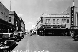 Laredo, Texas - Northern View up Flores Street by Lantern Press