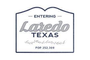 Laredo, Texas - Now Entering (Blue) by Lantern Press