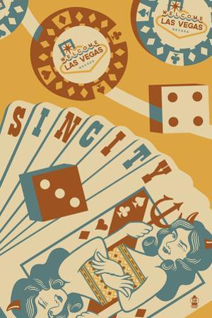 Las Vegas, Nevada - Sin City by Lantern Press