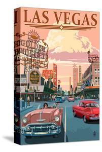Las Vegas Old Strip Scene by Lantern Press