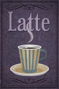 Latte Sign by Lantern Press