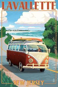 Lavallette, New Jersey - VW Van Drive by Lantern Press
