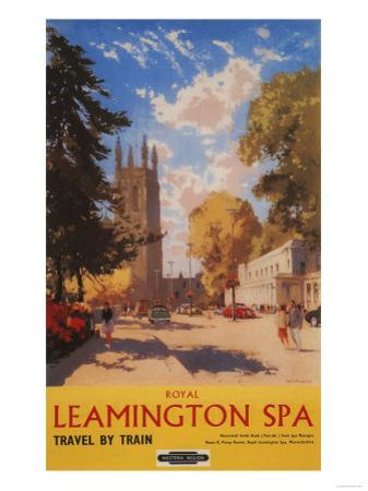 Leamington, England - Royal Spa, Street View British Railways Poster by Lantern Press