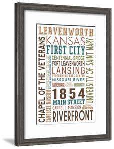 Leavenworth, Kansas - Typography by Lantern Press