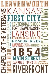 Leavenworth, Kansas - Typography by Lantern Press