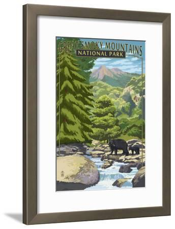 Leconte Creek and Bear Family - Great Smoky Mountains National Park, TN