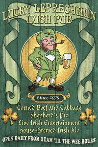 Leprechaun Irish Pub - Vintage Sign by Lantern Press