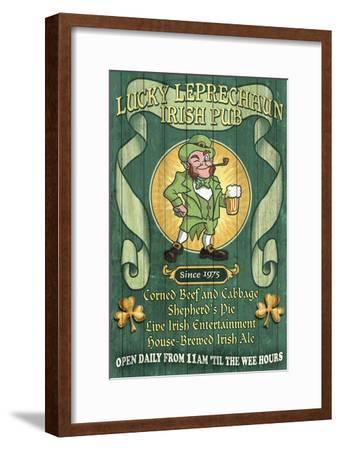 Leprechaun Irish Pub - Vintage Sign