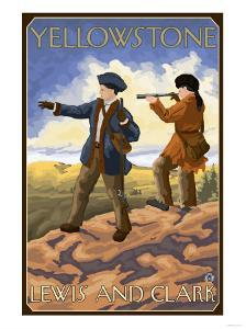 Lewis and Clark, Yellowstone National Park by Lantern Press