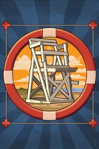 Lifeguard Chair by Lantern Press