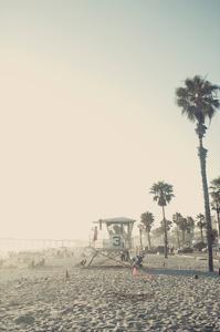 Lifeguard Shack and Palms by Lantern Press