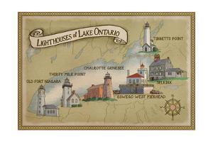 Lighthouses of Lake Ontario by Lantern Press