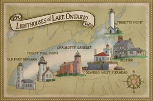 Lighthouses of Lake Ontario by Lantern Press