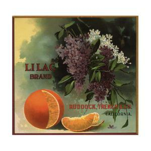 Lilac Brand - Ruddock, California - Citrus Crate Label by Lantern Press