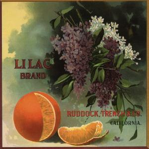 Lilac Brand - Ruddock, California - Citrus Crate Label by Lantern Press