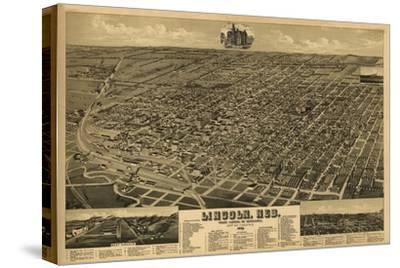 Lincoln, Nebraska - Panoramic Map