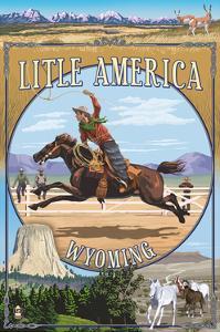 Little America, Wyoming - Montage by Lantern Press