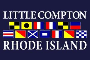 Little Compton, Rhode Island - Nautical Flags by Lantern Press