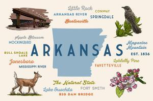 Little Rock, Arkansas - Typography and Icons by Lantern Press
