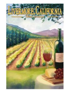 Livermore, California - Wine Country by Lantern Press