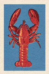 Lobster - Woodblock by Lantern Press