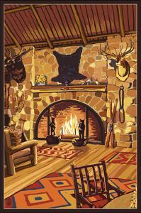 Lodge Interior by Lantern Press