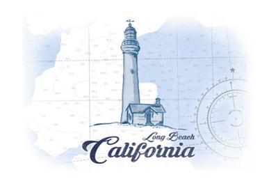 Long Beach, California - Lighthouse - Blue - Coastal Icon