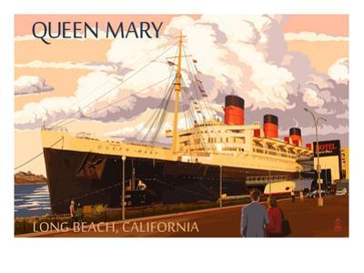 Long Beach, California - Queen Mary by Lantern Press