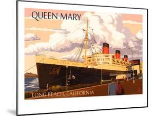 Long Beach, California - Queen Mary by Lantern Press