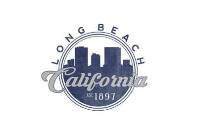 Long Beach, California - Skyline Seal (Blue)