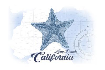 Long Beach, California - Starfish - Blue - Coastal Icon