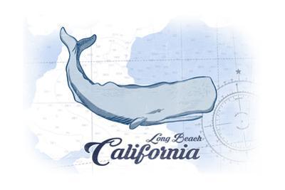 Long Beach, California - Whale - Blue - Coastal Icon