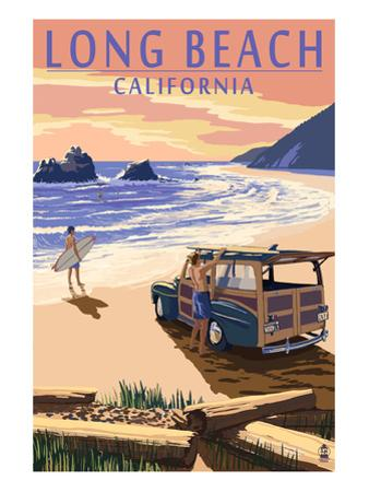 Long Beach, California - Woody on Beach