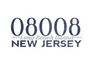 Long Beach Island, New Jersey - 08008 Zip Code (Blue) by Lantern Press
