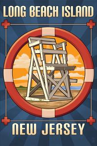 Long Beach Island, New Jersey - Lifeguard Chair by Lantern Press
