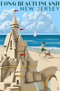 Long Beach Island, New Jersey - Sandcastle by Lantern Press