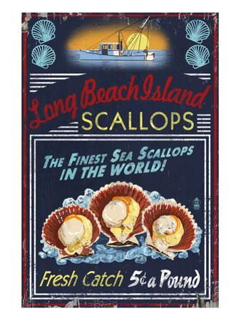 Long Beach Island, New Jersey - Scallops by Lantern Press