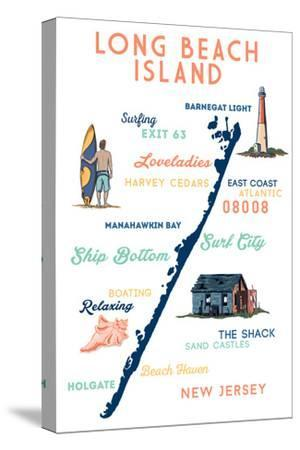 Long Beach Island, New Jersey - Typography and Icons