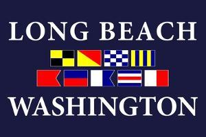 Long Beach, Washington - Nautical Flags by Lantern Press