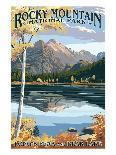 Long's Peak and Bear Lake - Rocky Mountain National Park-Lantern Press-Art Print