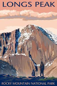 Longs Peak - Rocky Mountain National Park by Lantern Press