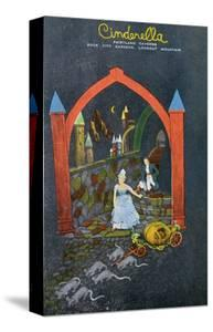 Lookout Mountain, Tennessee - Fairyland Caverns, Interior View of Cinderella Running from Prince by Lantern Press