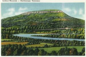Lookout Mountain, Tennessee - Panoramic View of the Mountain from Chattanooga by Lantern Press
