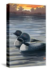 Loons and Sunset by Lantern Press