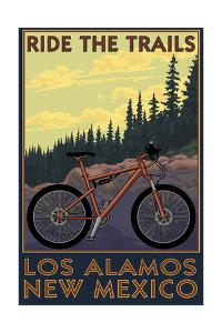 Los Alamos, New Mexico - Mountain Bike Scene by Lantern Press