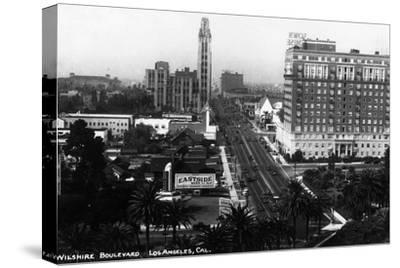 Los Angeles, California - Aerial View of Wilshire Boulevard