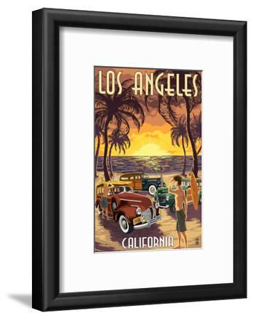 Los Angeles, California - Woodies and Sunset