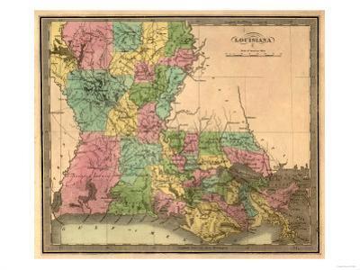 Louisiana - Panoramic Map by Lantern Press