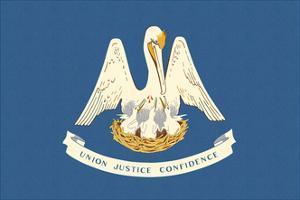 Louisiana State Flag by Lantern Press