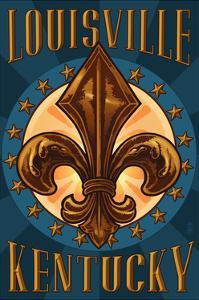 Louisville, Kentucky - Fleur de Lis by Lantern Press